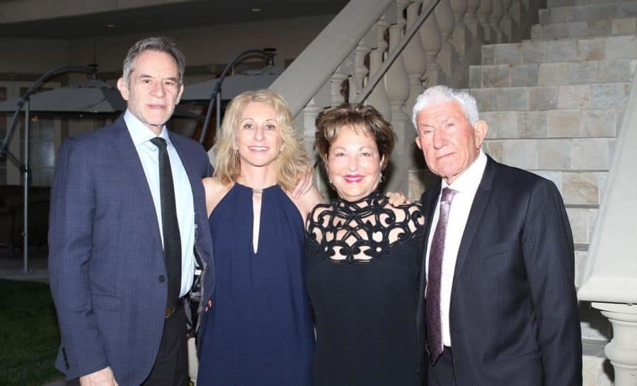 R-Shmuel Ben Dror, wife Raya Ben Dror-Strauss, Amy Miller, President, American Friends of the Ghetto Fighters' Museum, Naharyia, Israel and Husband Richard Miller
