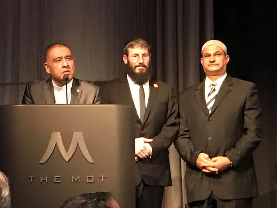 L-Awardees- Bishop Juan Carlos Mendez, Rabbi Yonah Bookstein, Mahomed Akbar Khan-Photo Nurit Greenger