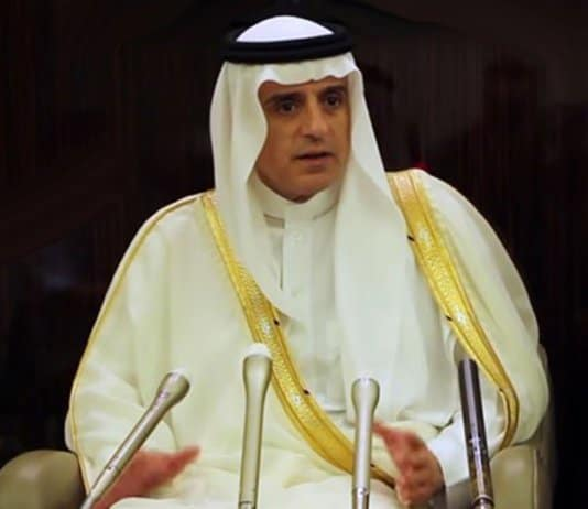 minister adel al jubeir - Iran sanctions likely.