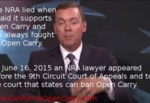 NRA lied, should wait for Nichols v. Brown Open Carry Appeal