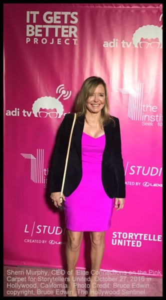 Sherri on the Pink Carpet