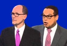 Tom Perez and Keith Ellison.