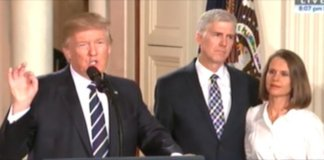 trump selects neil gorsuch.