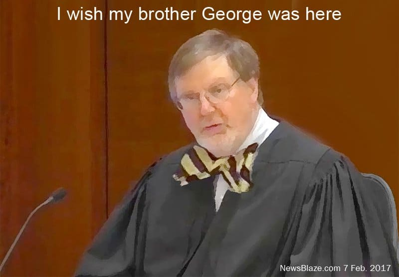 I wish my brother george was here.