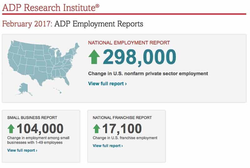 adp employment report.