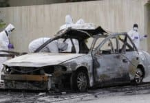 bombed car in bahrain