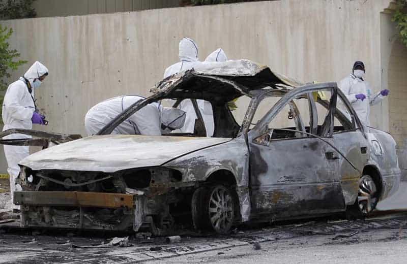 bombed car in bahrain
