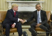 trump and obama at the white house.