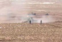 Iran's irgc tank drills.