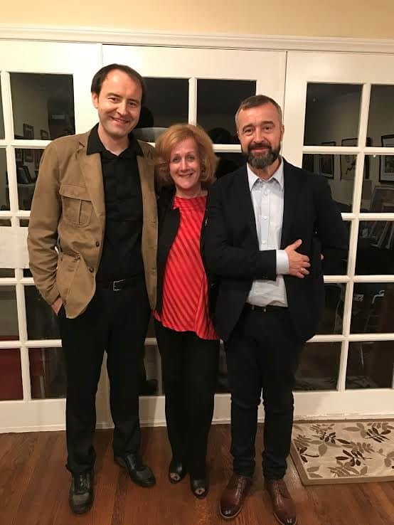 L-Bartek Gliniak, Docufilm music composer, the writer, Nurit Greenger, Bogdan Bialek