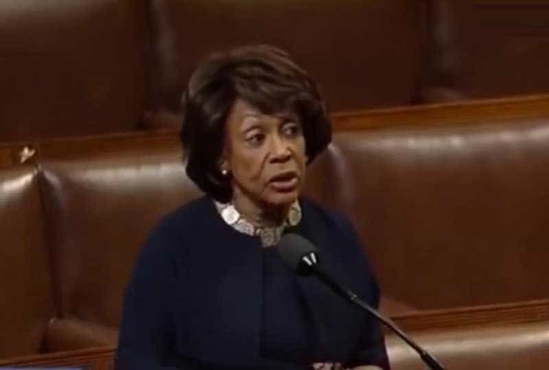 maxine waters, another outraged woman.