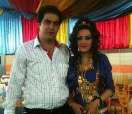Moluk Nouri and her husband. They were executed in Urmia Prison, September 29, 2016.
