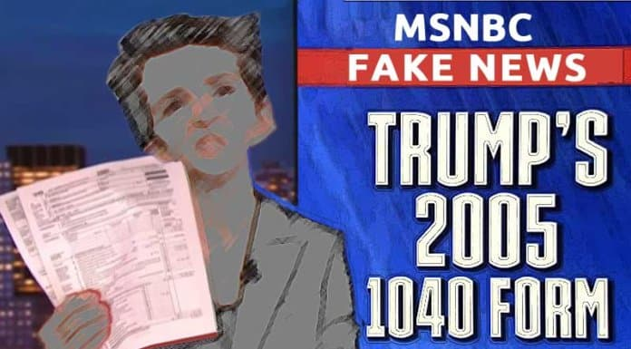 Rachael Maddow hypes fake news about Donald Trump's 2005 tax return.