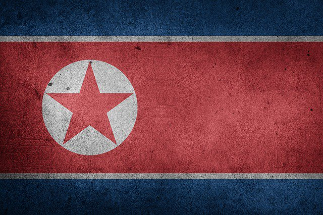 The North Korean flag.