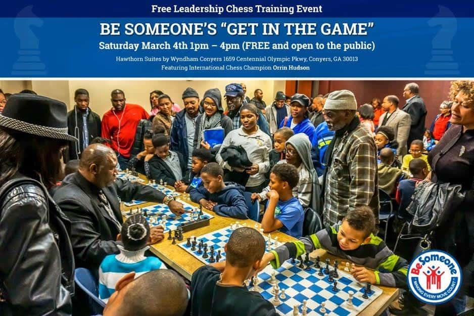 Orrin Hudson plays chess.