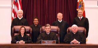 The Justices of the Supreme Court of Florida as of February 8, 2017.