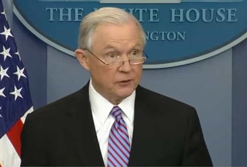 attorney general jeff sessions speaks about sanctuary cities.