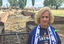 I am at Auschwitz-Birkenau - by the destroyed gas chamber where Jewish bodies' ashes are for everyone to see.