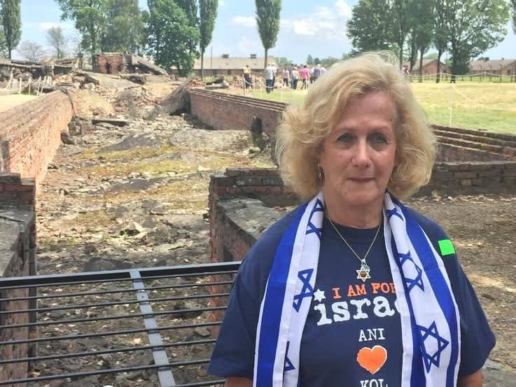 I am at Auschwitz-Birkenau - by the destroyed gas chamber where Jewish bodies ashes are for everyone to see.