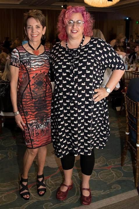 L-DeeDee Sussman, Marjorie Pressman Legacy Award) and Jenji Kohan, Woman of Achievement Award - Photo Sheba Team.