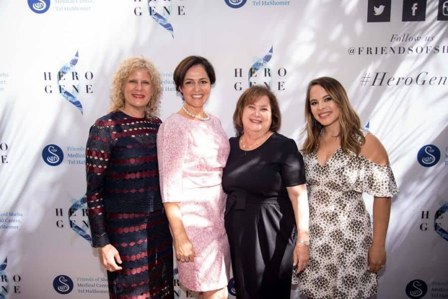 L-Nina Lieberman, Executive Director; Shoshana Djavaheri Zar & Adrian Miller, Luncheon CoChairs; Adi Hepner, Director of Development - Photo Sheba team.
