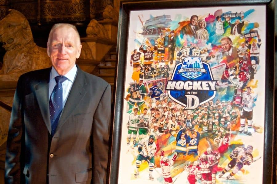red berenson with doug west ccha painting.