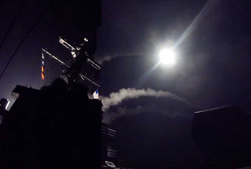 us fires tomahawk missiles at syria.