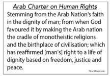 arab human rights charter.