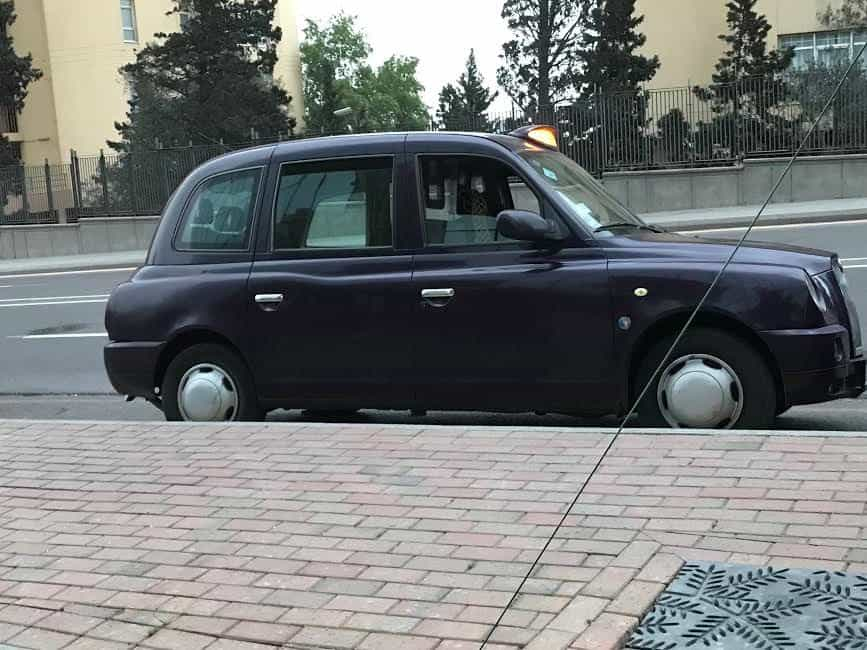 Travel Log in Azerbaijan started in a typical Baku taxi