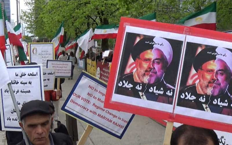Canada protest against the sham Iran election.