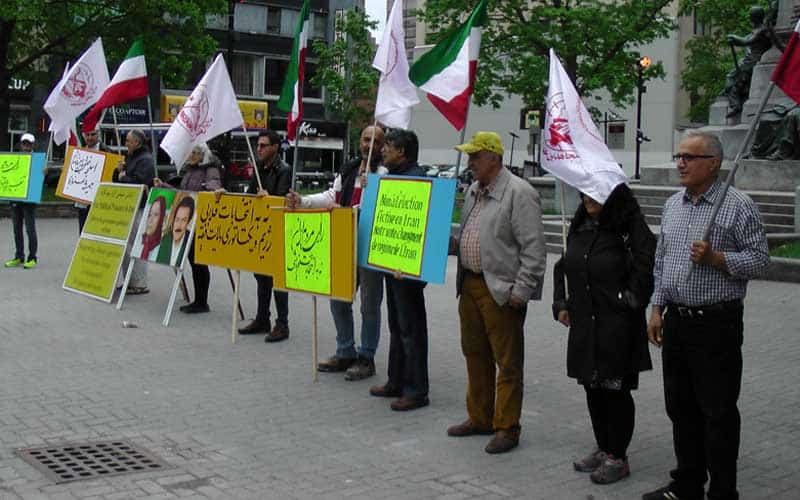 Canada - protesting sham Iran election.