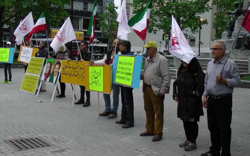 Canada - protesting sham Iran election.