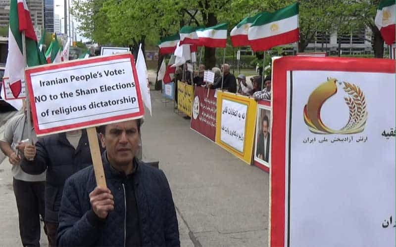 Canada - protesting the sham Iran election.