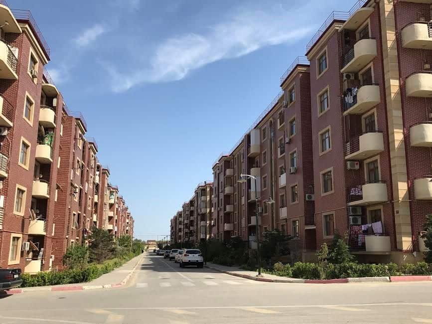 idp settlement street over 700 families government housings - Azerbaijan And Me. A Week Travel Log in Azerbaijan Part 3