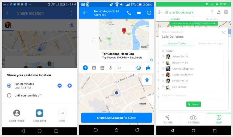 Location Sharing Google Facebook Turtler.