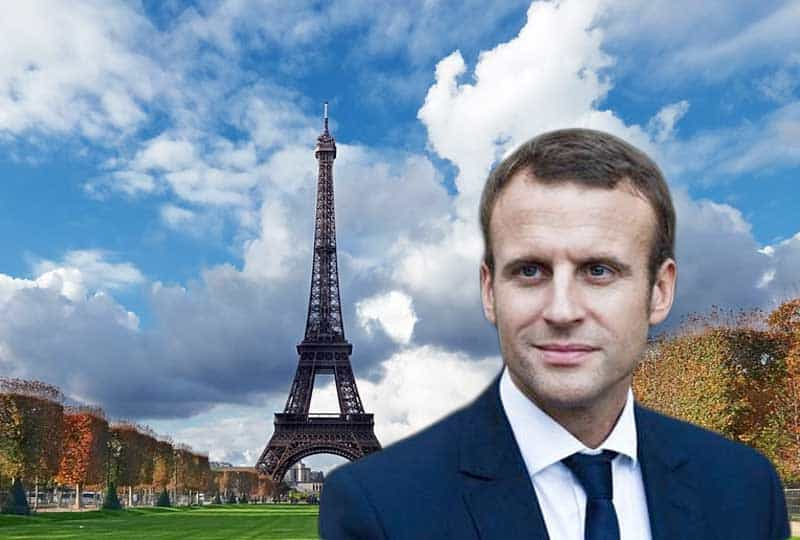 macron in paris.