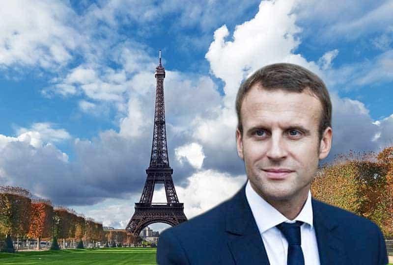 macron in paris.