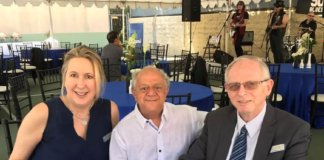R - Rachel Heisler Sheinfeld, Executive Director AFSMC, host Mikey Dardashti, Professor Ehud Davidson, MD