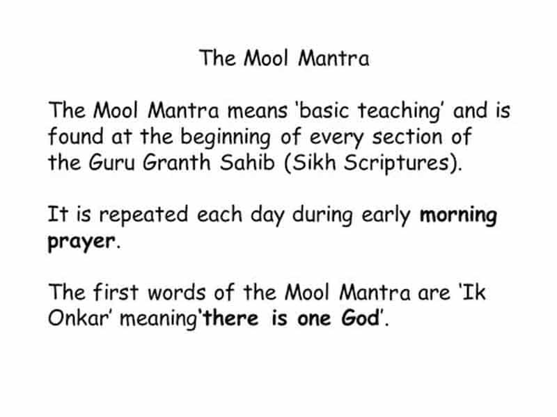 The Mool Mantra.