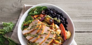 Veggie Bowl Chicken drizzle top.