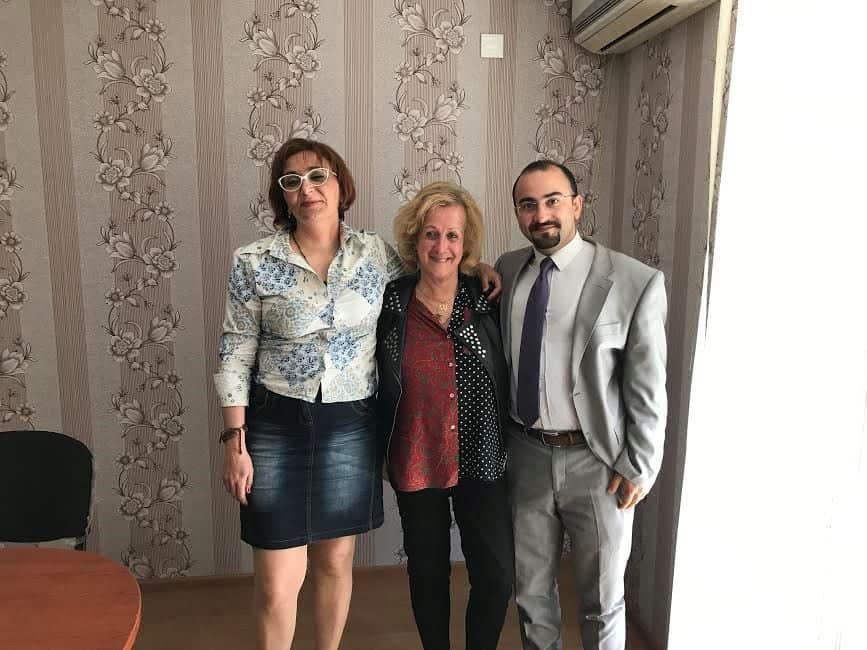 With Suzan Jaghinyan [L] & Orkhan Nabiyev [R] they head the Armenia-Azerbaijan Peace Platform.