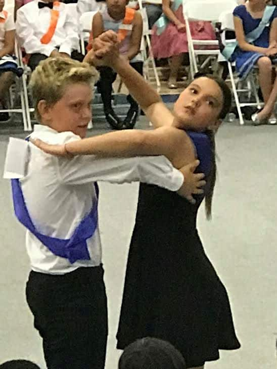 boy and girl latin dance.