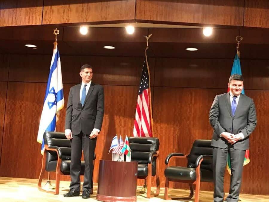 L-Israel consul General Sam Grundwerg R-Azerbaijan consul general Nasimi Aghayev.
