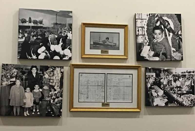 papa cristos memories on the wall.