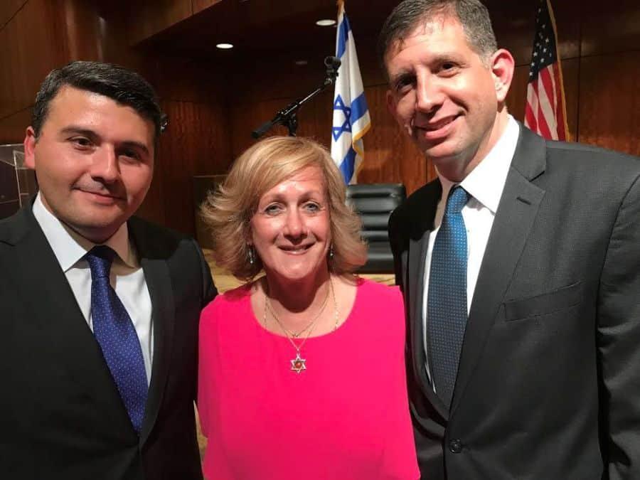With R-Israel consul General Sam Grundwerg L-Azerbaijan consul general Nasimi Aghayev.