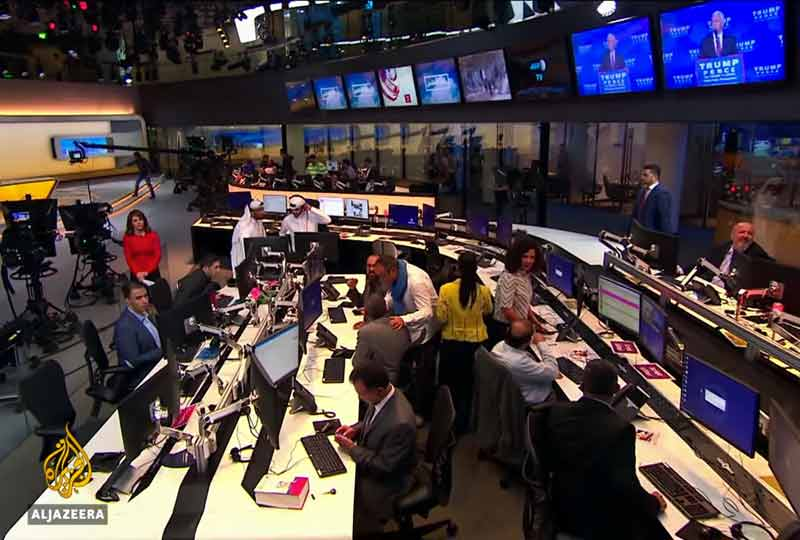 al jazeera production studio.