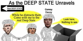 as the deep state unravels - cartoon.