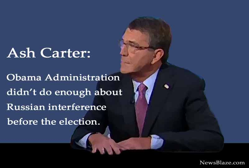Ash Carter speaks about false russian collusion story.