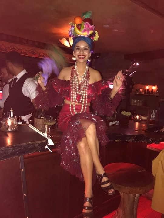 Carmen Miranda character.