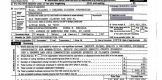 clinton foundation 2014 tax return.
